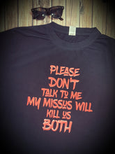 Please Don't Talk To Me Adult Tshirt