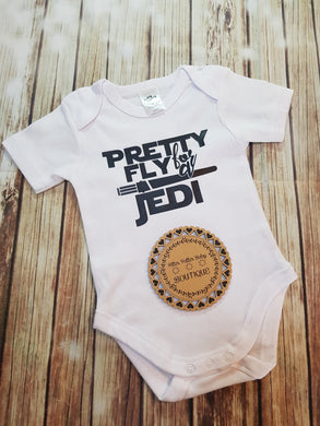 Pretty fly For A Jedi Onsie - Pitter Patter Baby Boutique