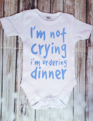 Boy's Ordering Dinner Onesie - Pitter Patter Baby Boutique