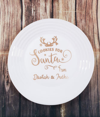 Cookies for Santa personalized plate