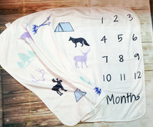 Boy's Personalized Milestone Blanket
