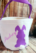 Personalized Purple bunny Easter Basket