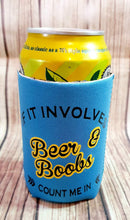 Beer Or Boobs Quote Stubby holder