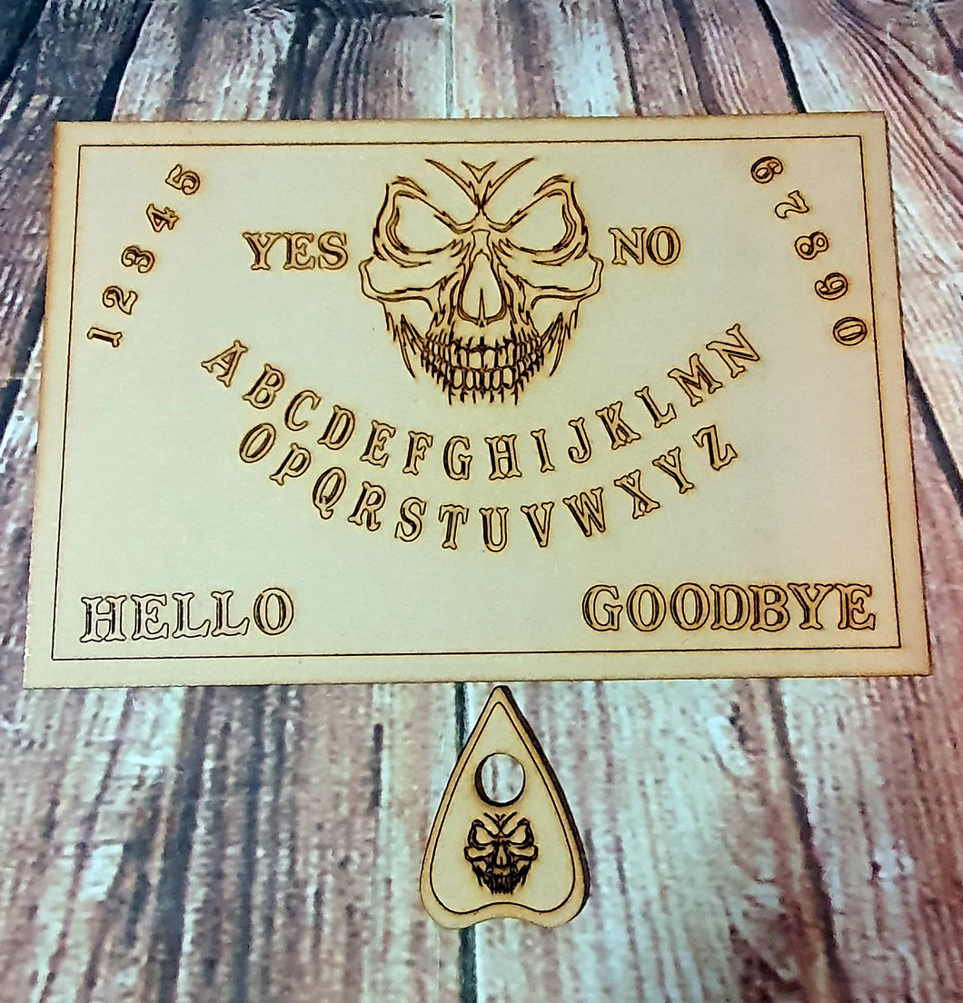 Large size skull Or Custom Image Ouija board with planchet