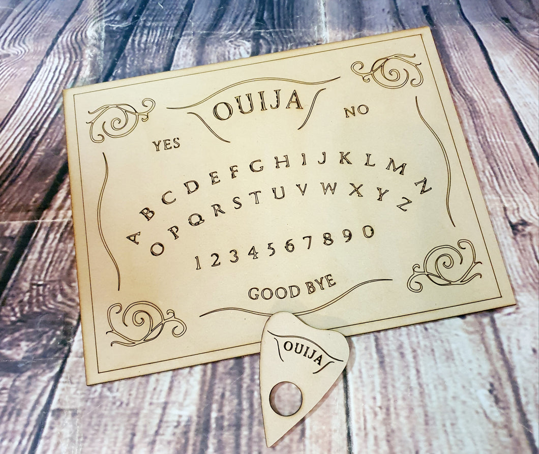 Wood Cut Ouija Board