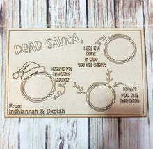 Wooden Santa Goodies Plate