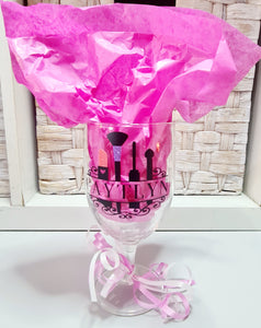 Makeup Themed Personalized Wine Glass Or Tumbler