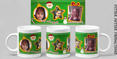 Personalized photo mug, Christmas theme