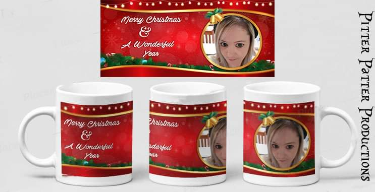Red Christmas Personalized Photo Mug