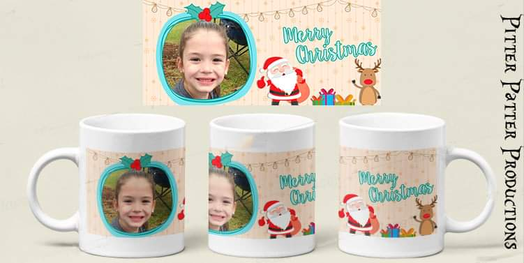 Custom Photo Santa Christmas Mug