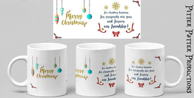 Christmas message mug