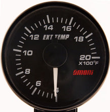 45mm Electrical EGT gauge - White Needle/ Red Backlight