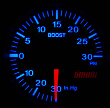 52mm Omori Boost Gauge VW Blue Color Match