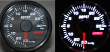 45mm Electrical boost gauge - Red Needle/ White Backlight