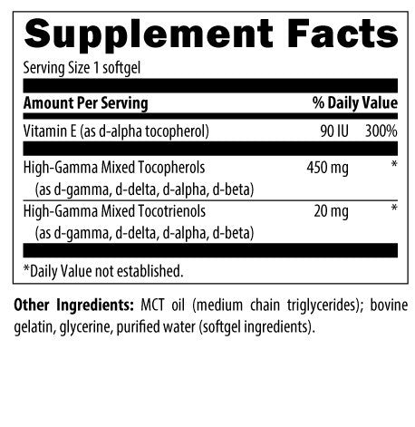Super E Supplement Facts