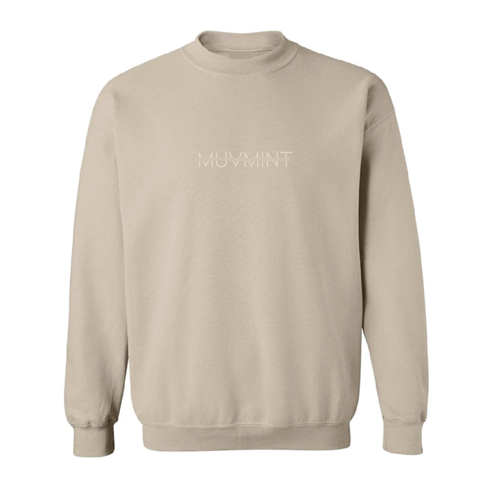 Embroidery Crewneck - BEIGE