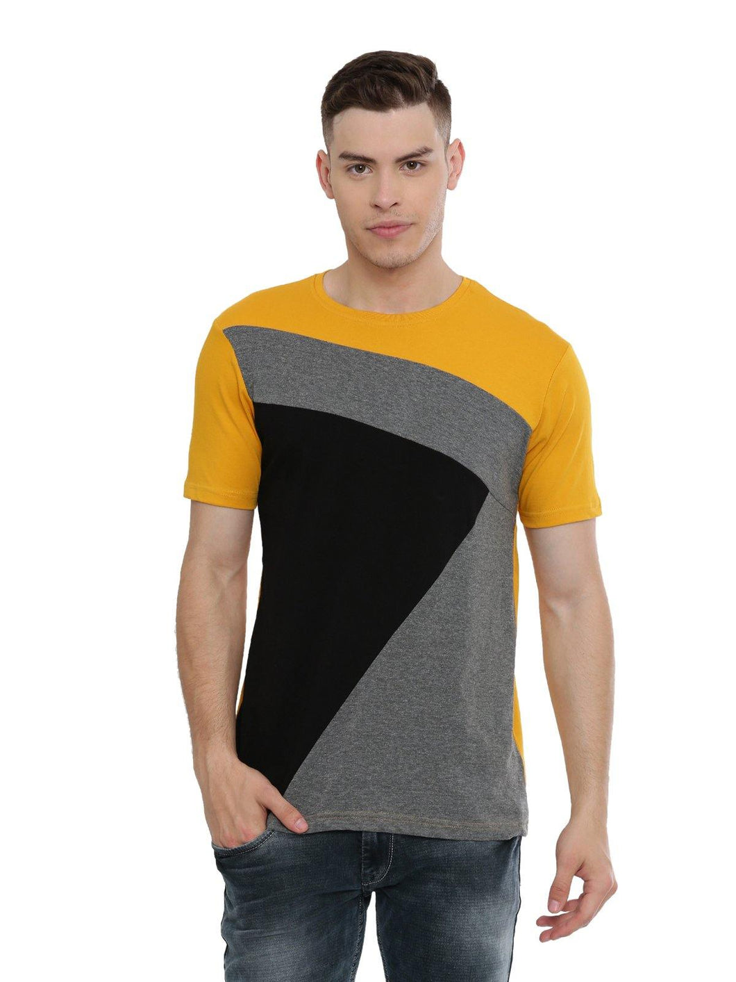 Adro Men's Color Blocked T-Shirts