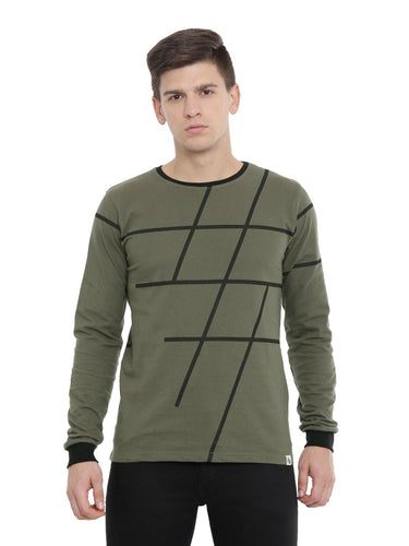 Adro Men's Full Sleeve All Over Printed T-Shirts