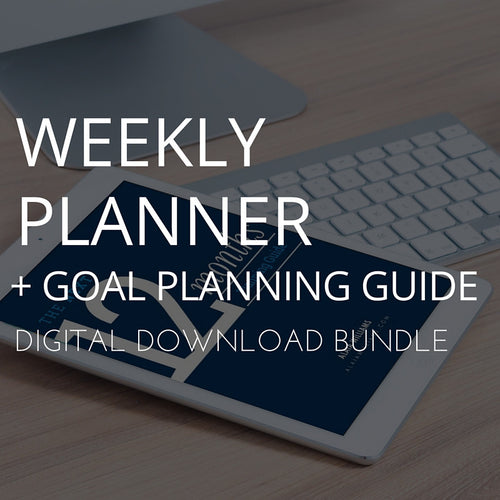 Weekly Planner + Goal Guide (Digital Bundle)