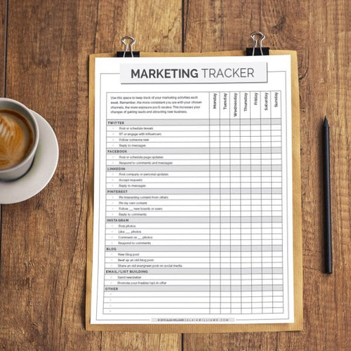 Marketing Tracker Printable
