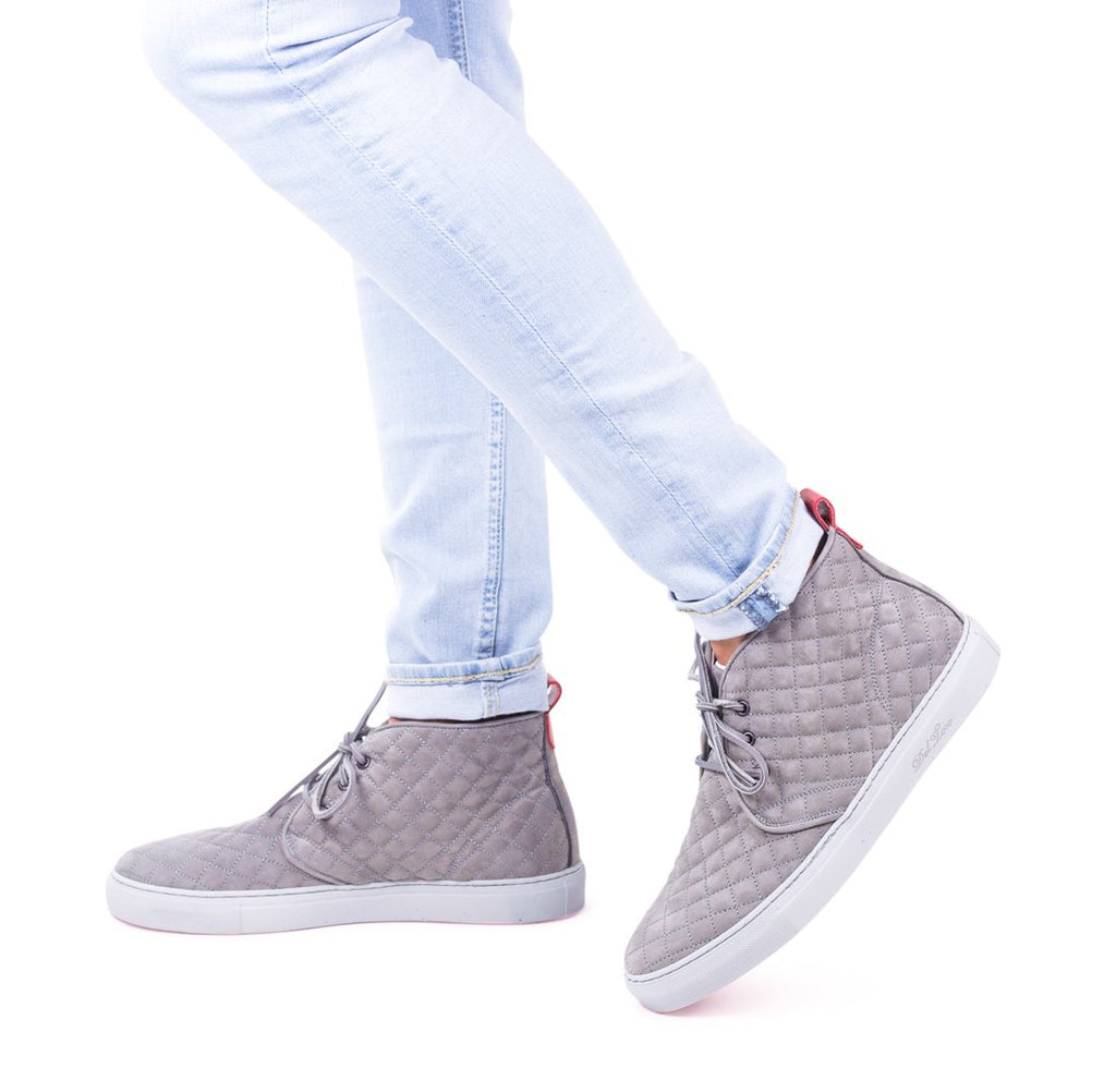 Light Grey Quilted Chukka