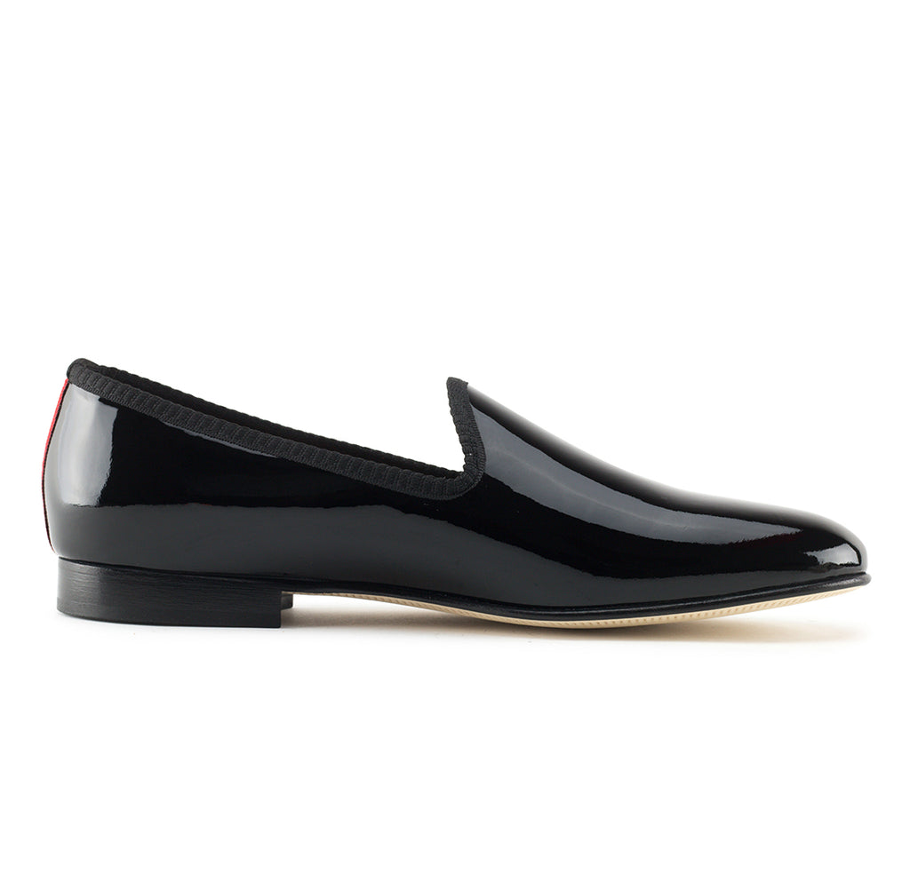 Black Patent Leather Slipper