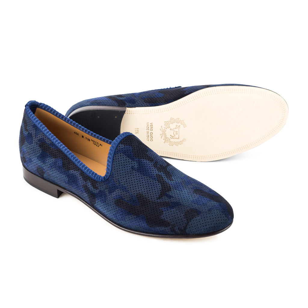 Navy Camo Slipper