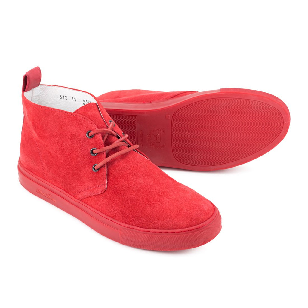 Red Suede Chukka