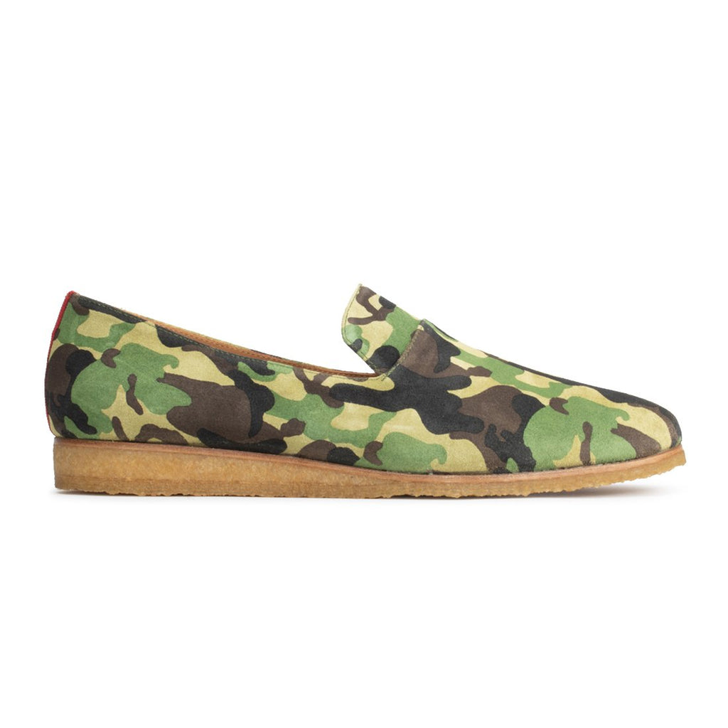 Green Camo Everyday Loafer with Crepe Sole