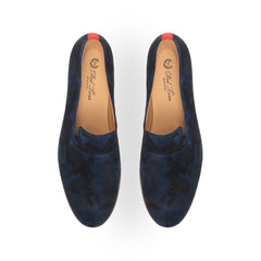 Navy Camo Everyday Loafer with Crepe Sole