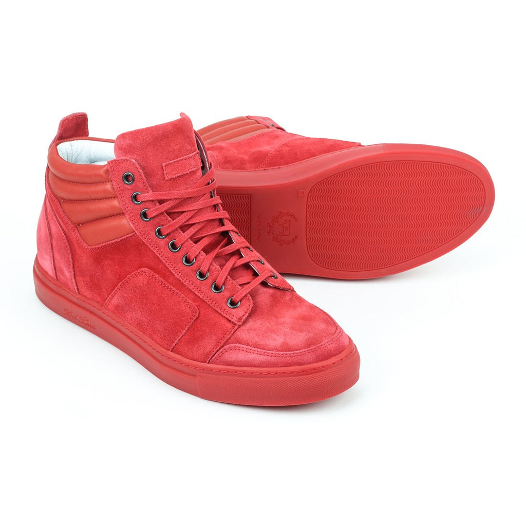 Red Suede Boxing Sneaker