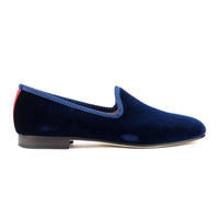 Men's Navy Velvet Slipper