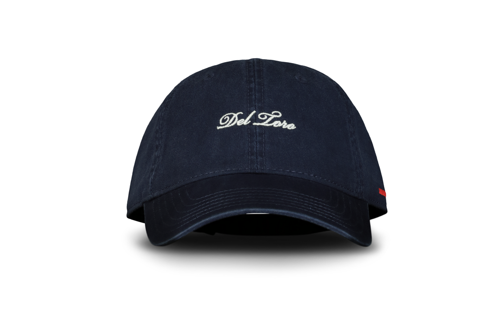 Navy Embroidered Cotton-Twill Adjustable Baseball Cap