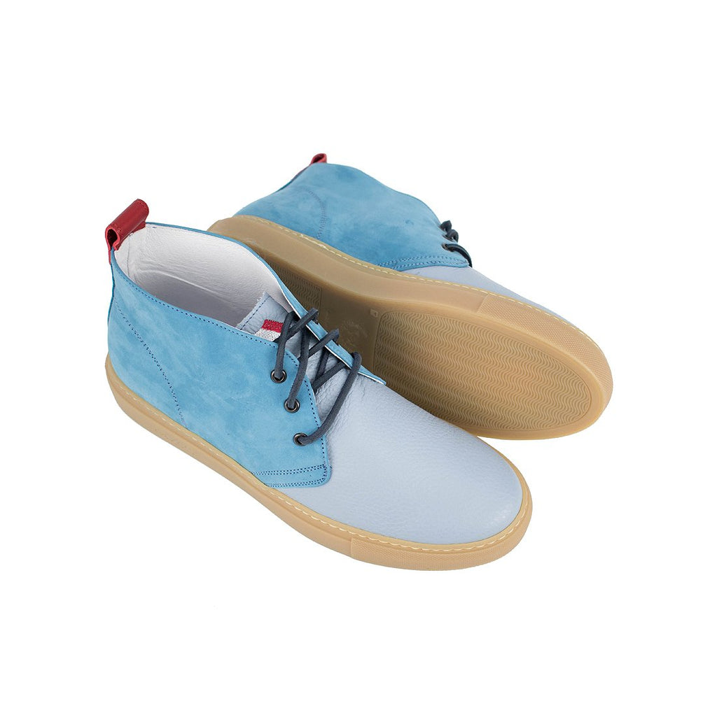 Light Blue Nabuk and Bottalato Torino Chukka
