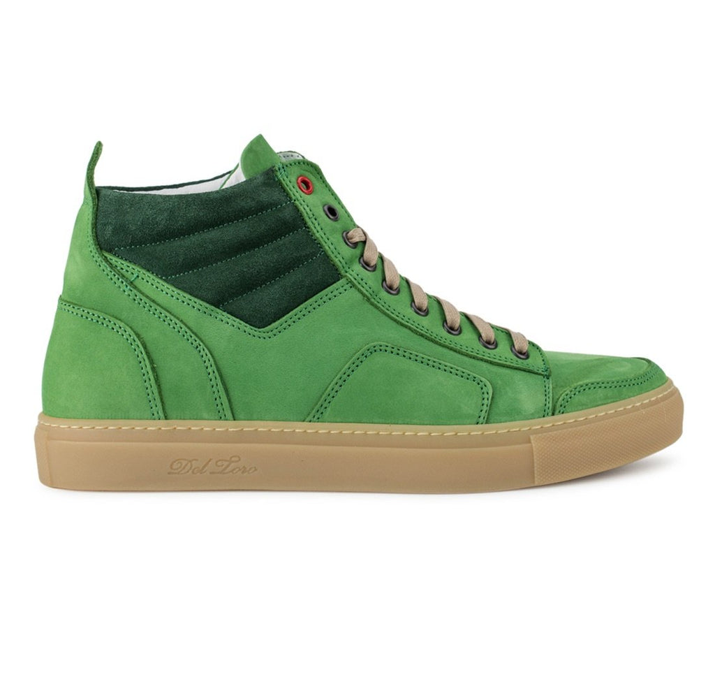Forest Green Nabuk Boxing Sneaker