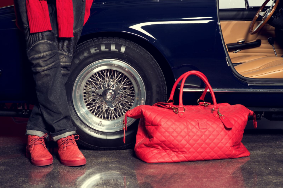 Red Quilted Chukka