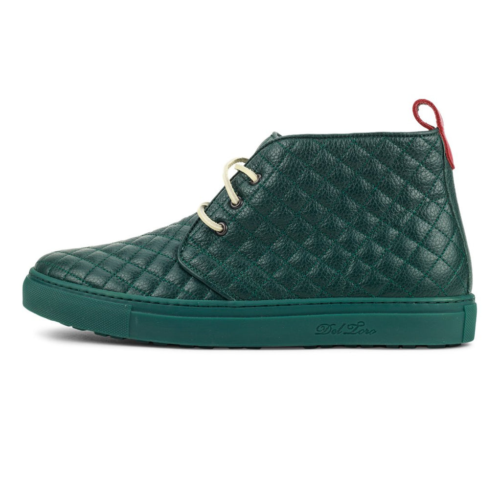 Forest Green Quilted Chukka