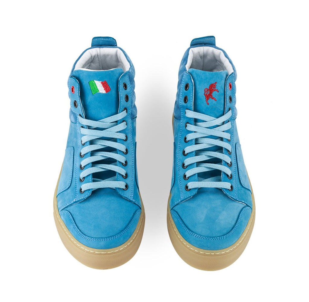 Light Blue Nabuk Boxing Sneaker
