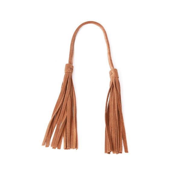 Accessories - Cognac Suede Leather Tassel