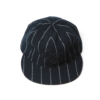 Accessories - Del Toro X Ebbets Field Navy And Grey Wool Pinstripe Baseball Cap
