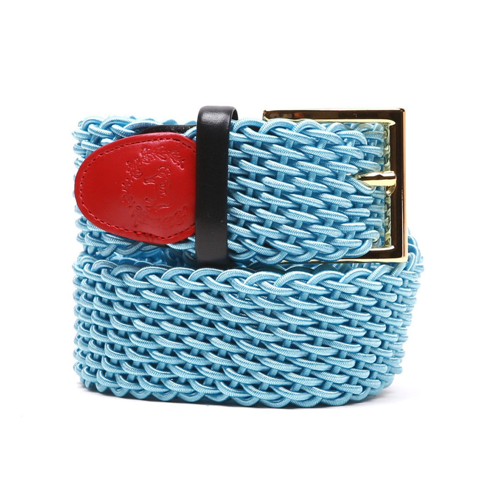Accessories - Sky Blue Intrecciato Woven Belt