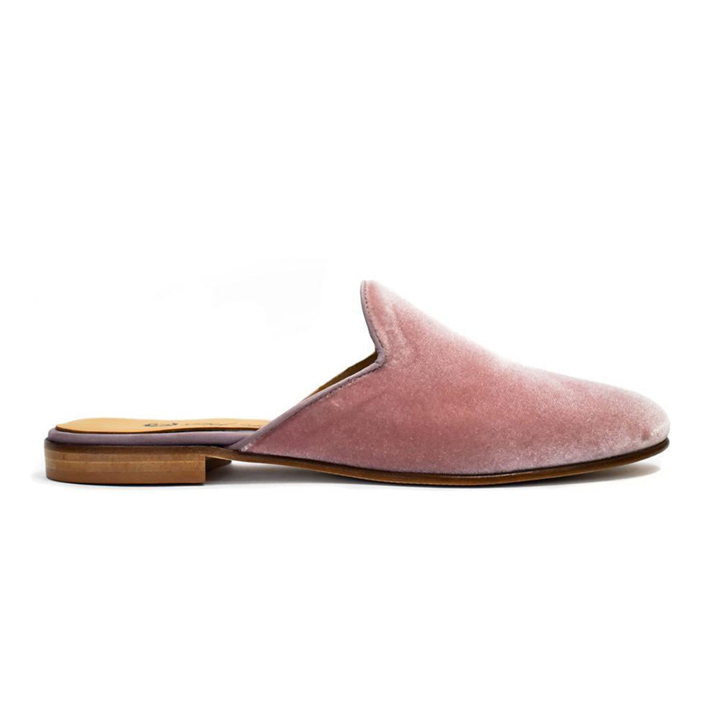 Women's Antique Pink Velvet Mule