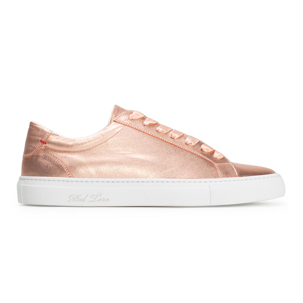 Women's Rose Gold Distressed Sardenga II Sneaker