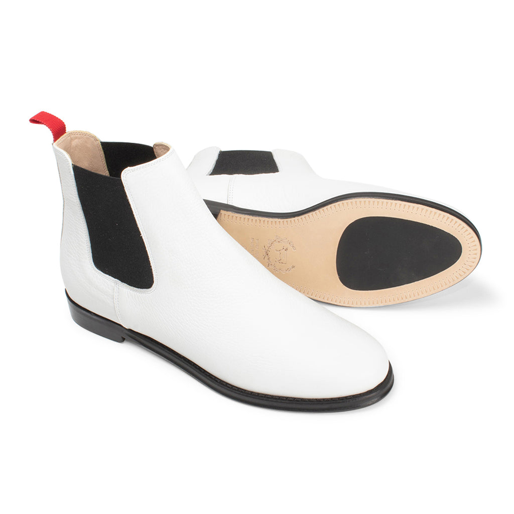Women's White Bottalato Chelsea Boot