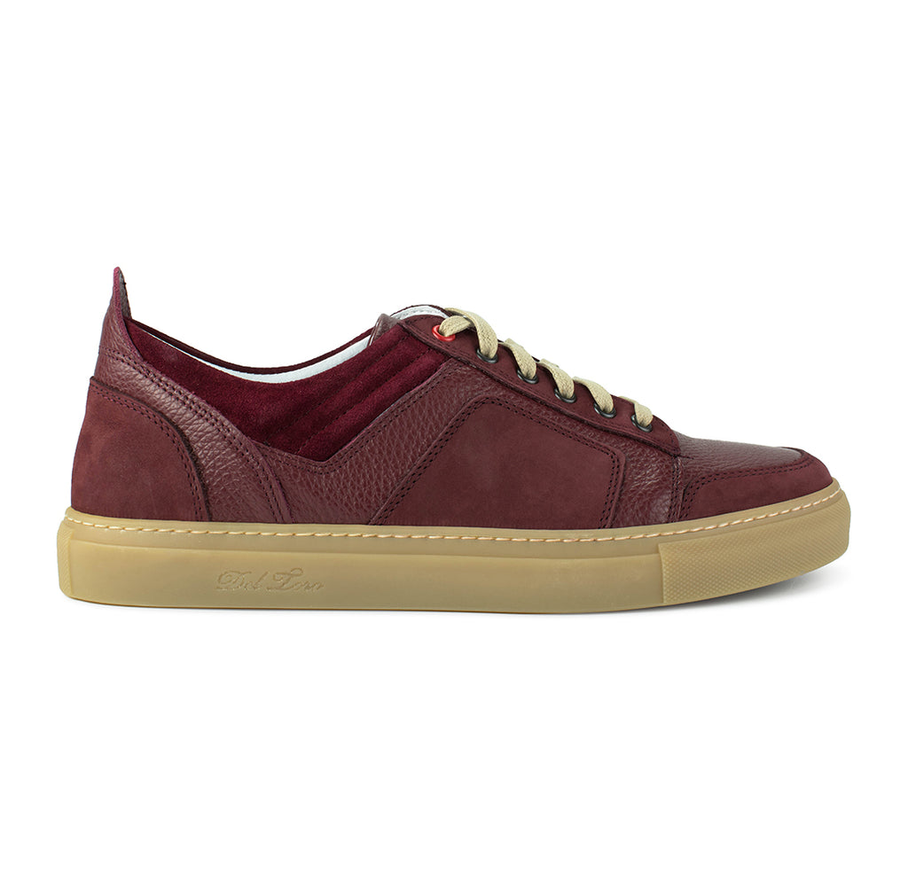 Burgundy Bottalato and Nabuk Torino Sneaker
