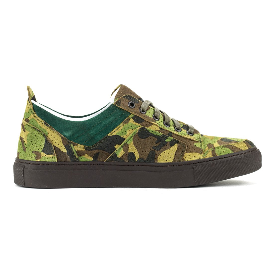 DEL TORO Perforated Camo Sneakers 1YOGqJ
