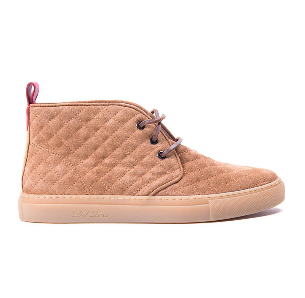 Cognac Quilted Chukka