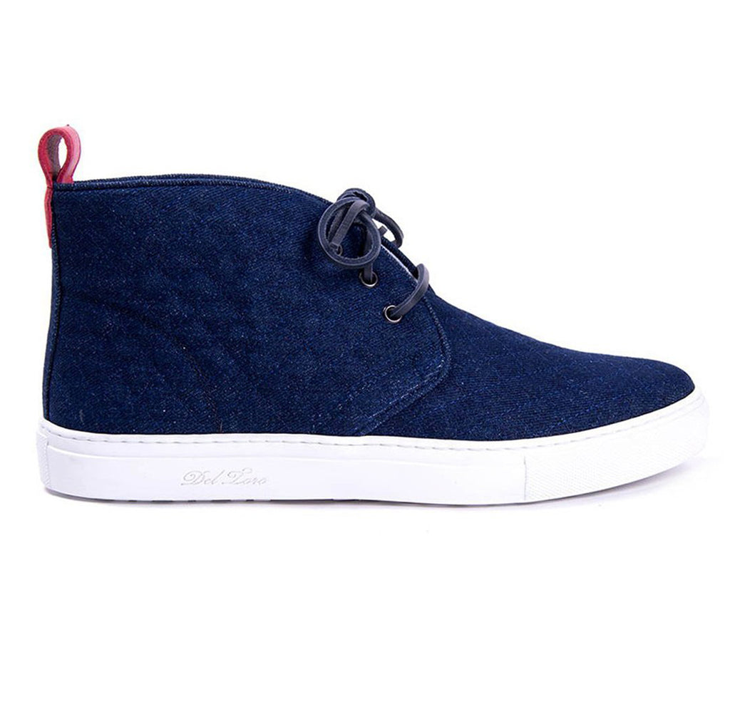 Dark Quilted Denim Chukka