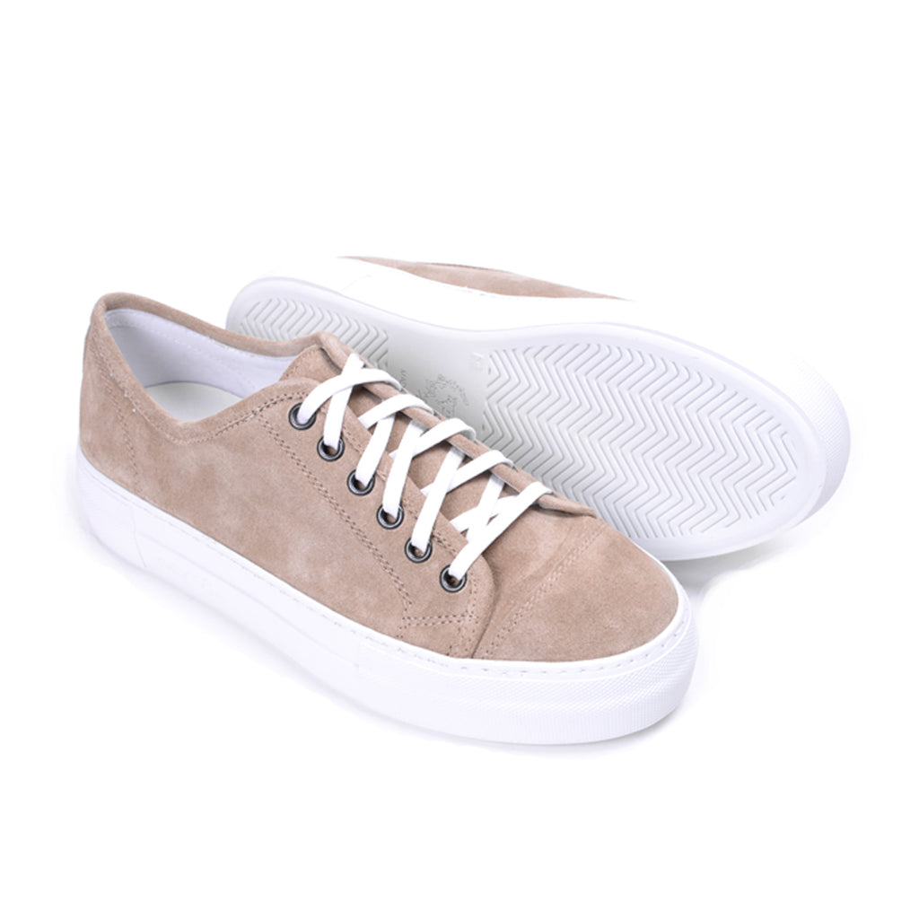 Women's Sand Suede Sardegna With Gioia Creeper Sole