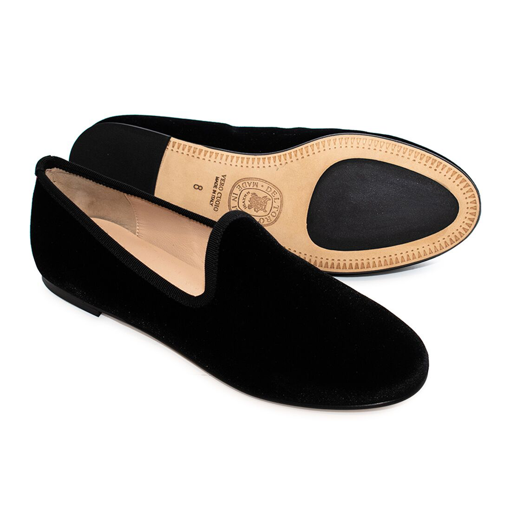 Women's Black Velvet Slipper II